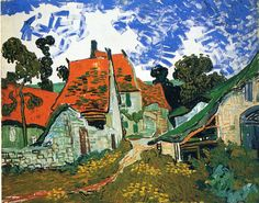 "Vincent van Gogh: ""Street in Auvers-sur-Oise"", 1890. (Museum of Finnish Art, Ateneum, Helsinki, Finland.) http://www.ateneum.fi/"