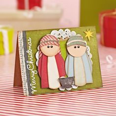 Punch & piece Nativity cards | TheMakingSpot