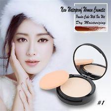 NEW Waterproof Women Cosmetic Powder Cake With BOX WET DRY Moisturizing LQB | eBay