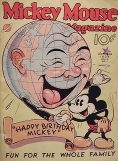 Cover for the October 1936 Mickey Mouse Magazine