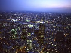 City of London with Tower 42, Swiss re Tower