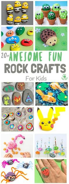 COOL KIDS ROCK CRAFTS - Do your kids love collecting pebbles?If you've got a little Nature collector then you'll love 20+ Awesome Fun Rock Crafts For Kids. These rock painting ideas make fantastic rock activities for fun all year round!