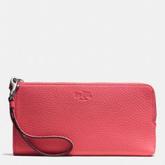 The Bleecker L-zip Wallet In Pebbled Leather from Coach