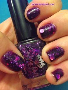 Emily de Molly - Cosmic Forces #purple #nailpolish - bellashoot.com #glitter #nails