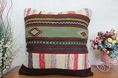 pachwork kilim pillow sofa pillow wool pillow aztec kilim #etsy #pillow #handmade