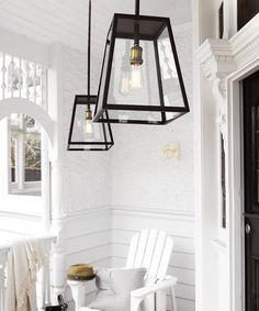 Southampton 1 Light Large Exterior Pendant in Antique Black | Outdoor Lighting | Lighting