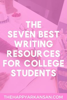 The 7 Best Writing Resources For College Students | Writing is an important skill to master in college. Learn about 7 great resources for writing in college by clicking through to read this blog post. College Years, College Essay, College Hacks, College Fun, Education College, College Binder, Freshman Year, Scholarships For College, College Students