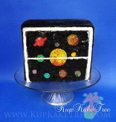 Inside picture cake with solar system scene | Flickr - Photo Sharing!