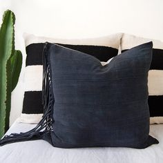 Mudcloth Pillow Cover, Indigo Pillow, Africa Pillow, Vintage Pillow, Grey Pillow, Natural Dye, Boho Pillow, African Fabric, African Pillow