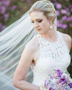 Spring wedding; purple wedding flowers; purple bridal bouquet; purple tulips; hydrangea; white stock; light pink astilbe; outdoor wedding; RT Lodge;   Lisa Foster Floral Design   www.lisafosterdesign.com