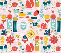 Winter Delights fabric by nadiahassan on Spoonflower - custom fabric