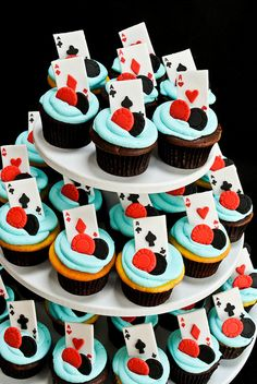 These fun invitations feature a print of a casino chip. top off place your bets casino. home > theme parties > casino theme party > place your bets casino Poker Cupcakes, Poker Cake, Themed Cupcakes, Cupcake Cakes, Cake Cookies, Casino Party, Casino Theme Parties, Vegas Casino, Vegas Party