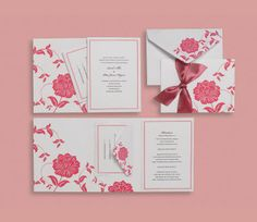 Brides DIY wedding invites
