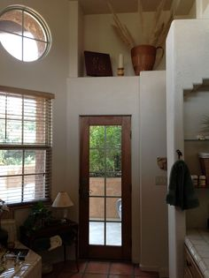 Tall ceilings let in natural light