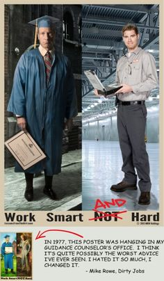 Mike Rowe (yes, the Dirty Jobs one) spearheaded Mike Rowe Holdings, which promotes employment for blue collar jobs and dispels myths about blue collar employment.