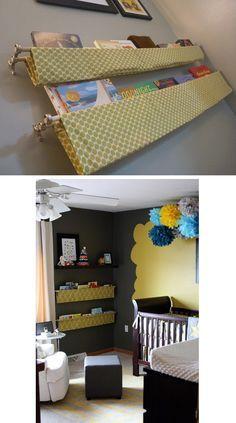 Hanging Fabric Shelves   25 Awesome DIY Ideas For Bookshelves