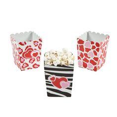 Mini Valentine Popcorn Boxes - OrientalTrading.com