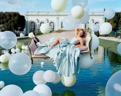 By Tim walker: floating sofa and bubble balls