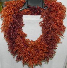 Sciarpa scaldacollo ad anello donna handmade scarf collana lana
