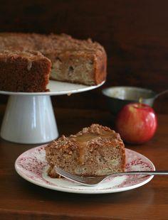 Low Carb Caramel Apple Coffee Cake. LCHF Keto Banting THM Recipe.