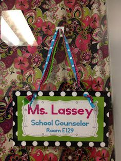 Personalized Name Plate for your office. Step by step instructions for you!  Creative Elementary School Counselor blog
