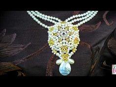 "La collana ""Rosonia""crescent beads,perle,rocailles,superduo,drops"