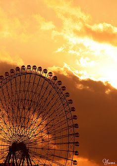 Sunset & The Big Wheel - Yokohama, Japan