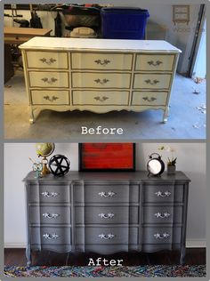 Upcycled french provincial dresser