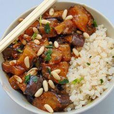 al estilo chino berenjenas al estilo chino con arroz recetaberenjenas al estilo chino con arroz receta Vegetable Recipes, Vegetarian Recipes, Healthy Recipes, Yummy Veggie, Yummy Food, Kitchen Recipes, Cooking Recipes, Asian Recipes, Ethnic Recipes