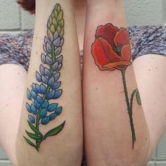 poppy and lupine tattoo - Google Search
