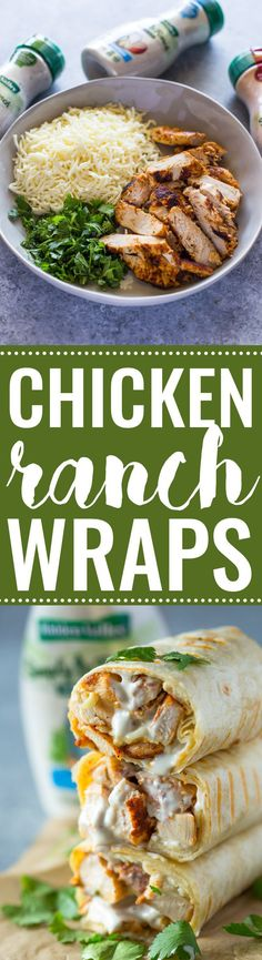 Chicken Ranch Wraps NOT a Cooking Light Recipe, but should be relative low in calories.