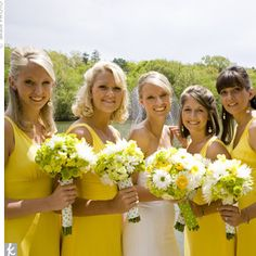 @Amy Koebel Bridesmaid Dresses Available in Yellow or Green