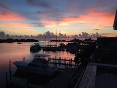 Sunset on the harbor. -Katie Morris