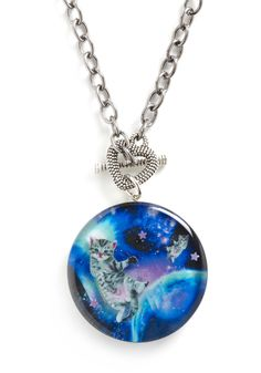 cats-in-space necklace, just what I always wanted!  will you wear this if I buy it for you @Maria Maso?