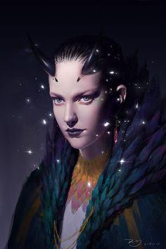 ArtStation - Bewitching woman, wudi Ding