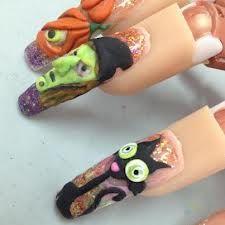 decoracion de uñas en 3d - Buscar con Google Garra, Nail Art Printer, Long Acrylic Nails, 3d Nails, Halloween Nails, Nail Care, Nail Art Designs, Finger, Makeup
