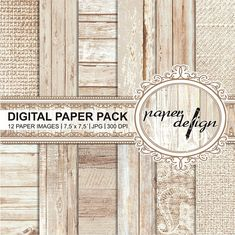 Shabby chic Papers wedding Vintage Wood Digital Paper Pack