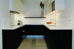 small apartment kitchen black design