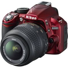 Nikon - D3100 14.2-Megapixel DSLR Camera with 18-55mm VR Lens - Red, wicked sick camera saw this at best buy earlier and i want it!!