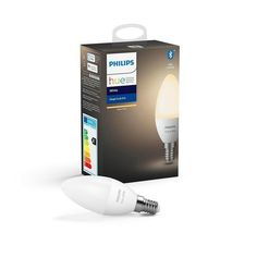 Bring smart lighting into your home with a Philips Hue White Smart Bulb. Bluetooth, Philips Hue, Works With Alexa, 5 W, Led Candles, Incandescent Bulbs, Led Lamp, White Light, Smartphone
