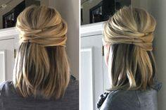 Hättest Du gewusst, dass sich mittellange Haare auf hübsche Weise hochstecken lassen? Diese 11 Bilder werden Dich vielleicht auf andere Gedanken bringen! - Neue Frisur