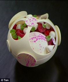 'It looks like a pink Death Star!' Monday's MasterChef Australia saw three contestants create a special version of a classic Eton Mess dessert, created by punk pastry chef Anna Polyviou