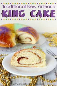 Traditional New Orleans King Cake #MardiGras #NOLA #dessert