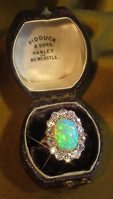 14K DIAMOND BLACK OPAL VINTAGE RING BOX FINE 2.45 MINER ANTIQUE HUGE 6.05 CARATS in Rings | eBay