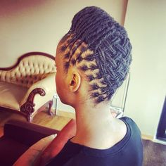 Image may contain: 1 person Short Locs Hairstyles, Weave Ponytail Hairstyles, Fancy Hairstyles, African Hairstyles, Dreads Styles For Women, Natural Hair Styles For Black Women, Sisterlocks, Flat Twist, Twist Outs