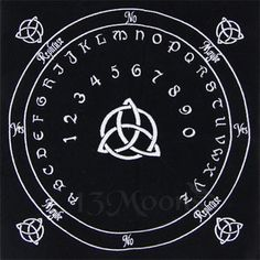 Celtic Triquetra Embroidered velvet pendulum mat is the perfect tool for your pendulum magic rituals. It is ornamented by the Celtic Triquetra design. Pendulum Board, Crystal Pendulum, Triquetra, Practical Magic, Ouija, Celtic Designs, Book Of Shadows, Altar, At Least
