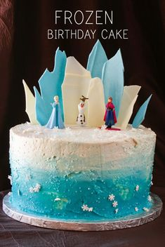 Layer Cake Share - Frozen Theme Birthday Cake Ideas Frozen Themed Birthday Cake, Themed Cakes, 5th Birthday, Frozen Theme Cake, Elsa Birthday Cake, Elsa Frozen Cake, Birthday Ideas, Birthday Recipes, Simple Frozen Cake