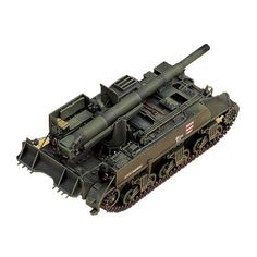 "Armored Car Tank Military Model 1/35 ""M-12 155MM Gun Motor Carriage"" #TA988"