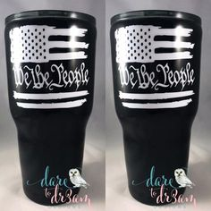 We The People American Flag Personalized Tumbler Personalized Tumblers, Personalized Gifts, Christmas Gifts To Make, Diy Epoxy, Wedding Cups, Glitter Cups, Tumbler Designs, Tumbler Cups, American Flag