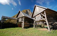 Triglav National Park - hayracks